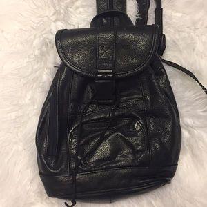 Vintage 1990s Genuine Leather Mini Backpack